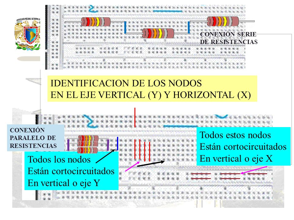 IDENTIFICACION DE LOS NODOS EN EL EJE VERTICAL (Y) Y HORIZONTAL (X)