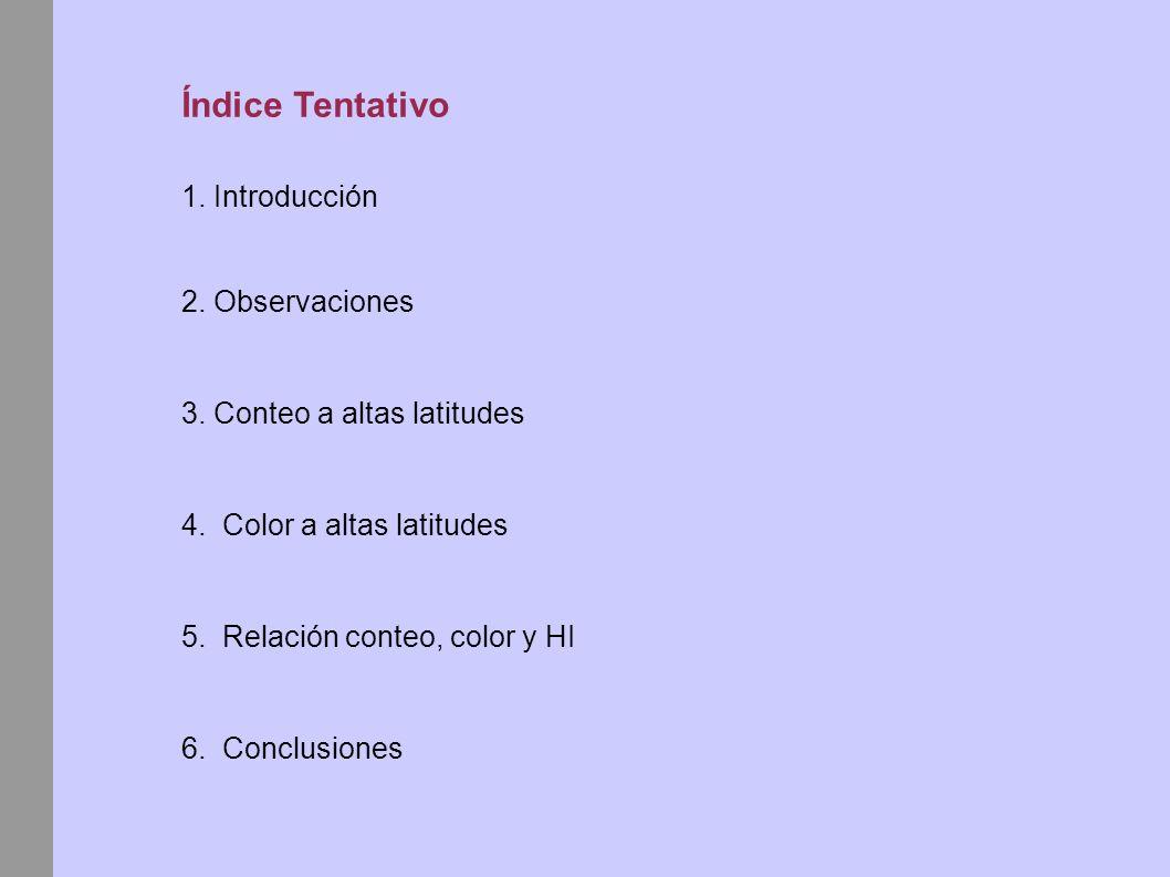 Índice Tentativo 1. Introducción 2. Observaciones