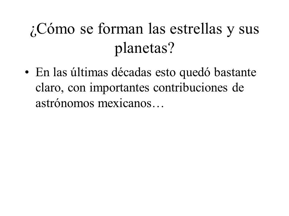 ¿Cómo se forman las estrellas y sus planetas