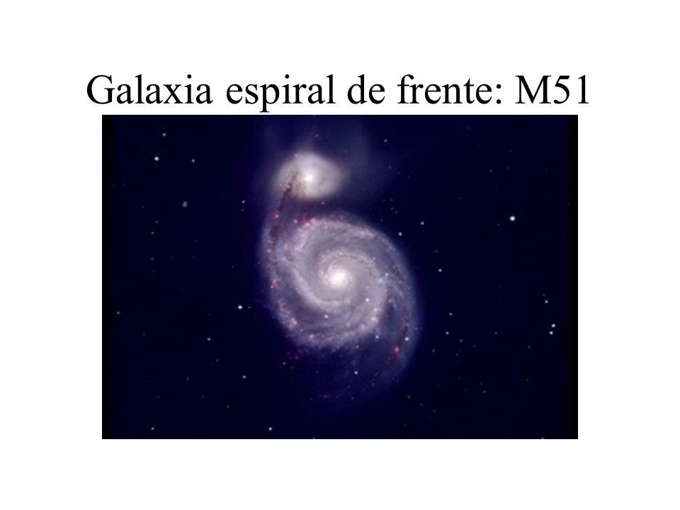 Galaxia espiral de frente: M51
