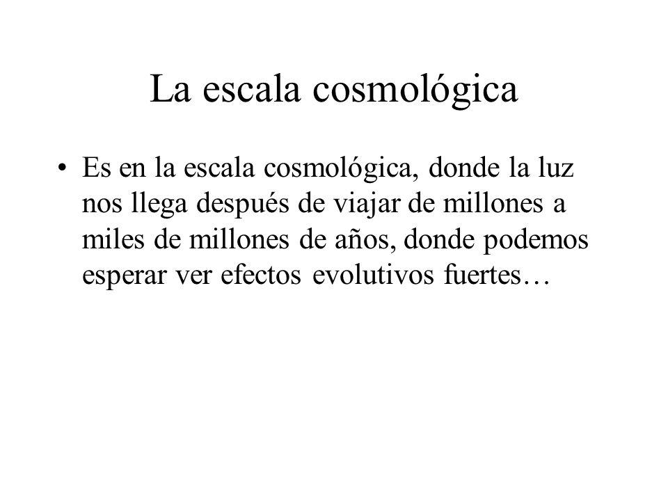 La escala cosmológica