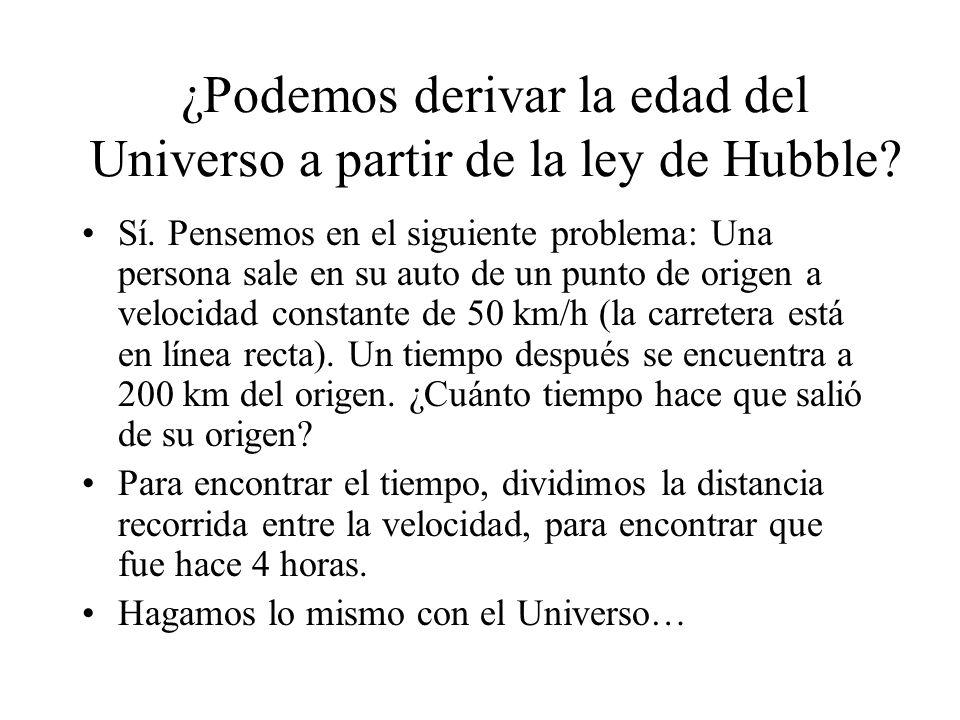 ¿Podemos derivar la edad del Universo a partir de la ley de Hubble