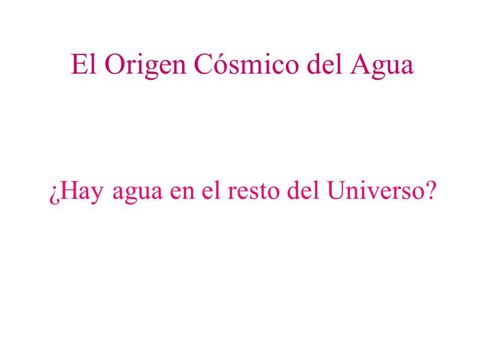 El Origen Cósmico del Agua