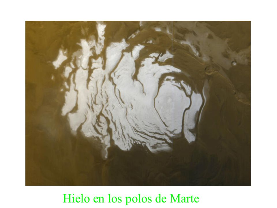 Hielo en los polos de Marte
