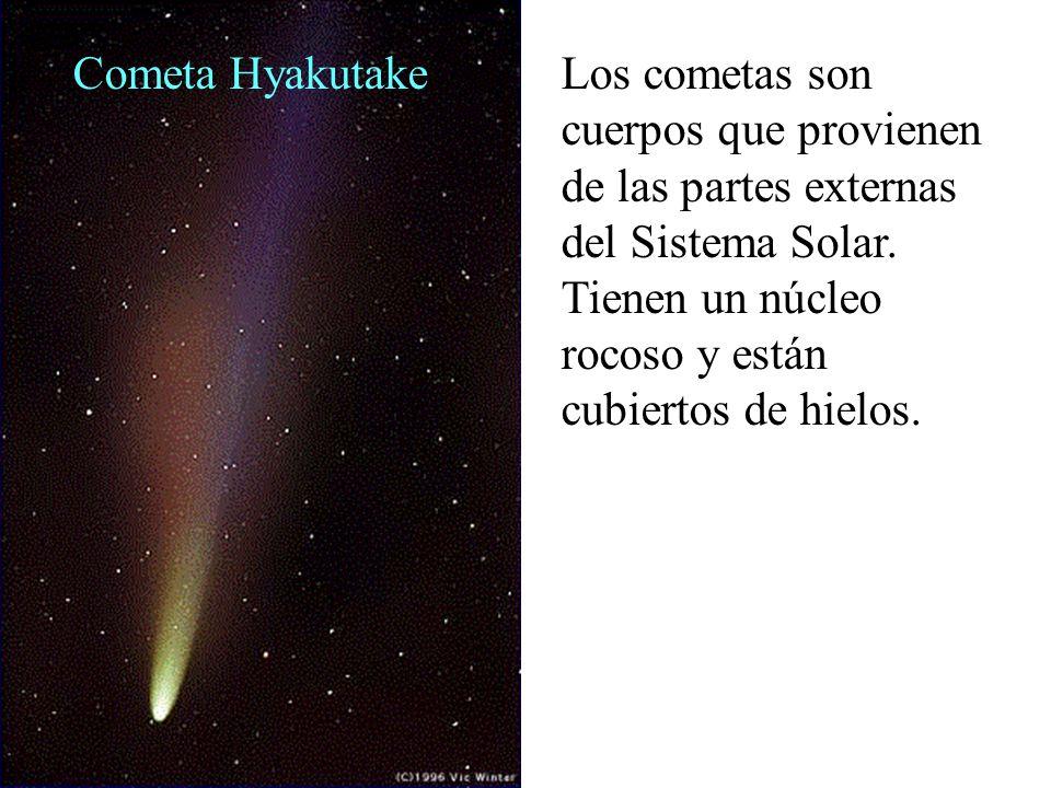 Cometa Hyakutake Los cometas son cuerpos que provienen de las partes externas del Sistema Solar.