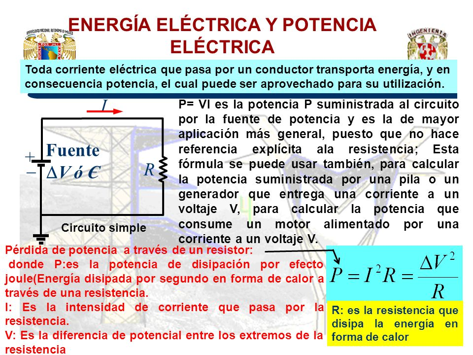 ENERGÍA ELÉCTRICA Y POTENCIA