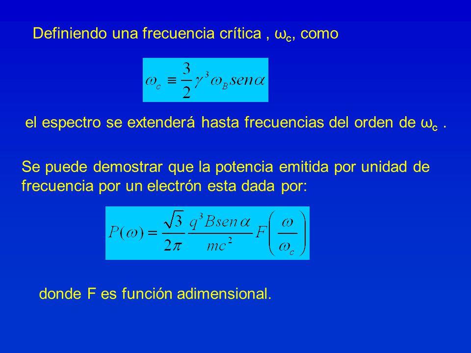 Definiendo una frecuencia crítica , ωc, como