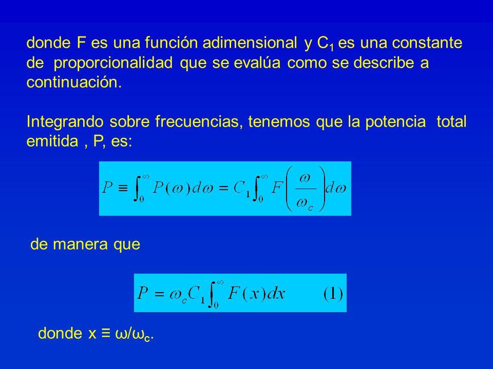 donde F es una función adimensional y C1 es una constante