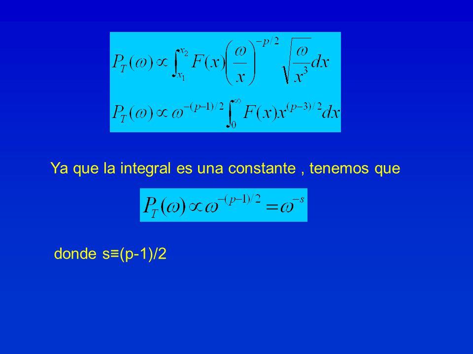 Ya que la integral es una constante , tenemos que