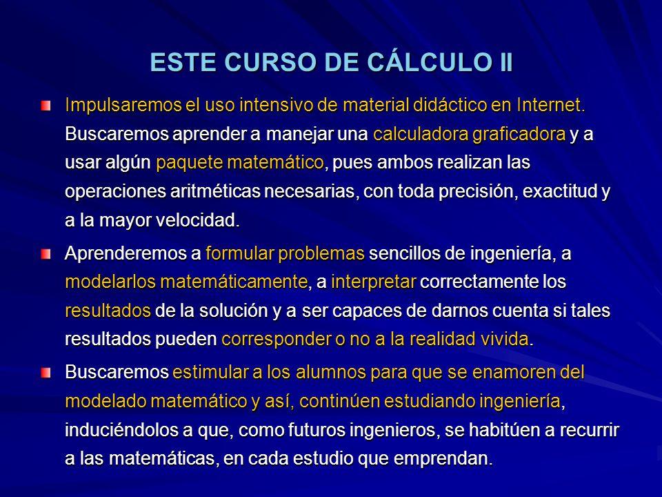 ESTE CURSO DE CÁLCULO II