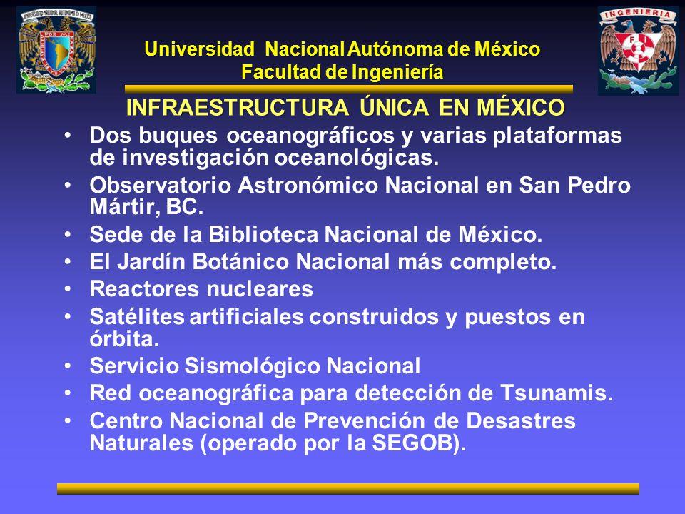 INFRAESTRUCTURA ÚNICA EN MÉXICO