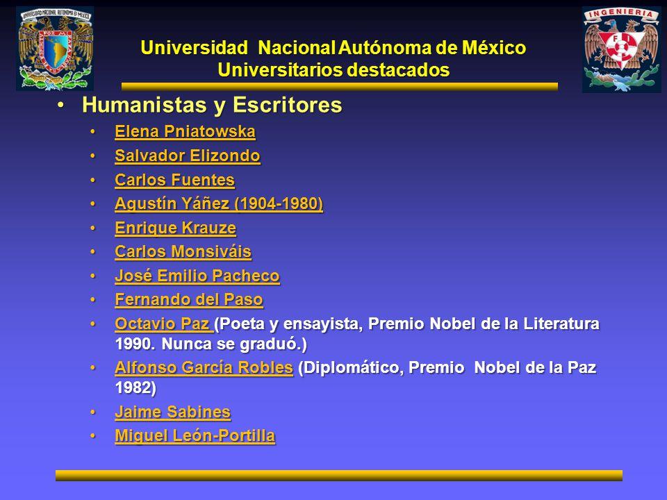 Universidad Nacional Autónoma de México Universitarios destacados