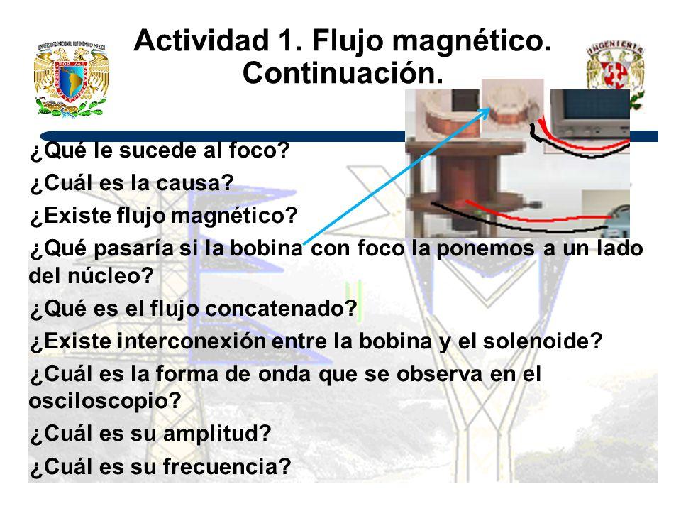 Actividad 1. Flujo magnético. Continuación.