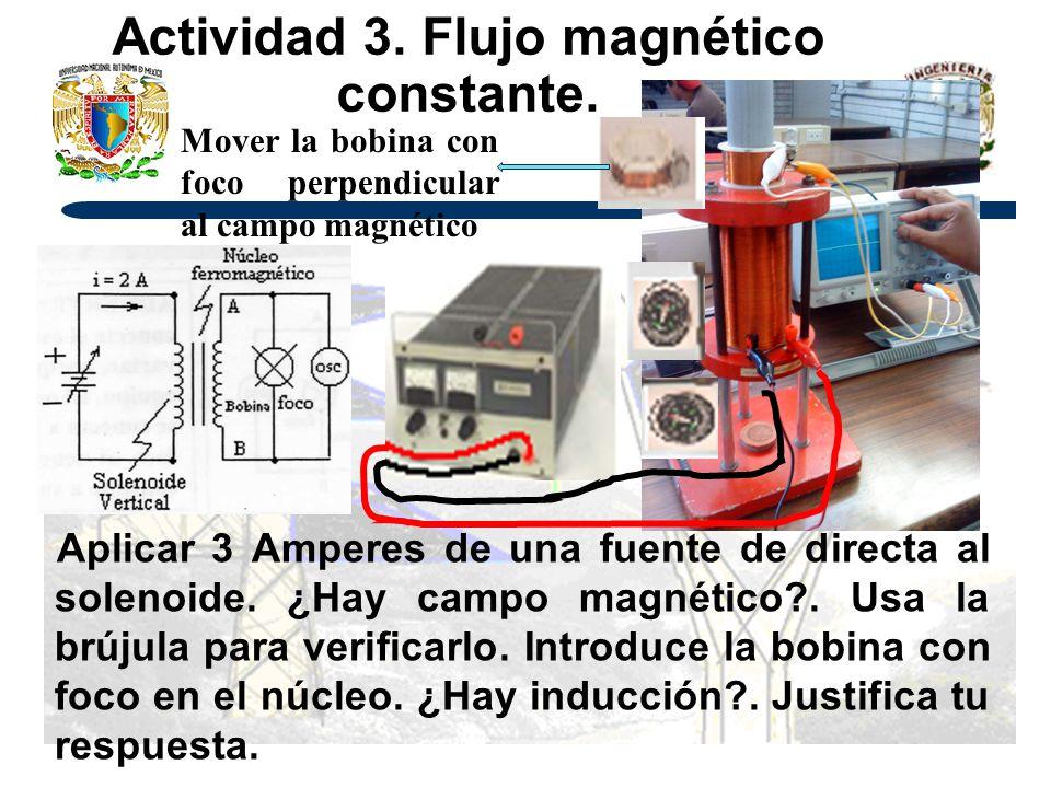 Actividad 3. Flujo magnético constante.