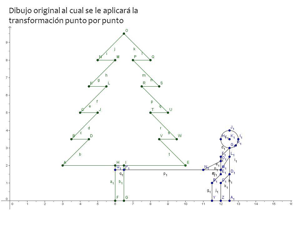 Dibujo original al cual se le aplicará la transformación punto por punto