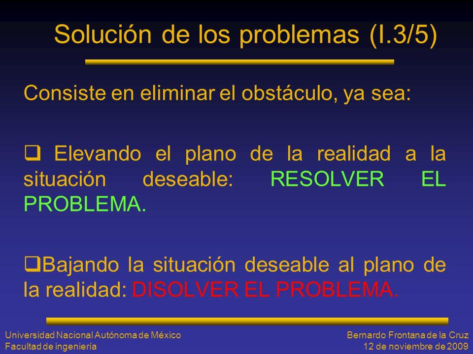 Solución de los problemas (I.3/5)