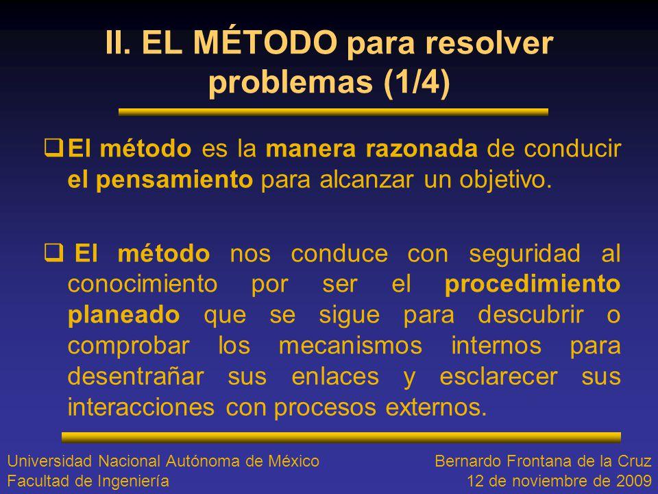 II. EL MÉTODO para resolver problemas (1/4)