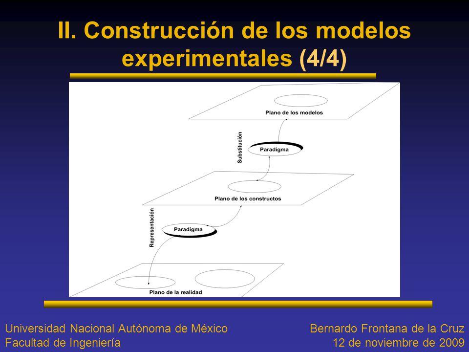 II. Construcción de los modelos experimentales (4/4)