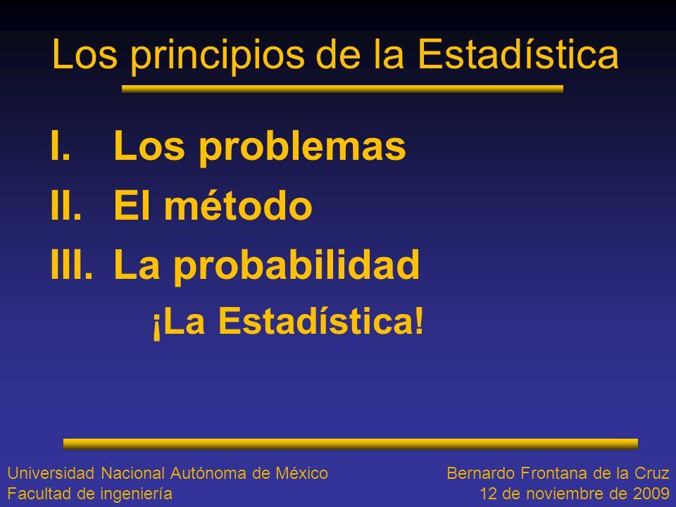 Los principios de la Estadística