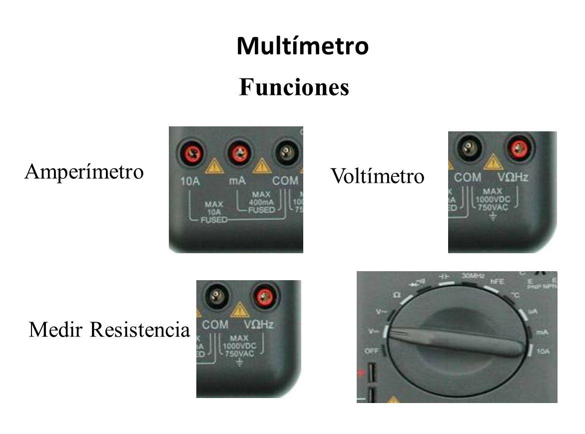 Multímetro Funciones Amperímetro Voltímetro Medir Resistencia