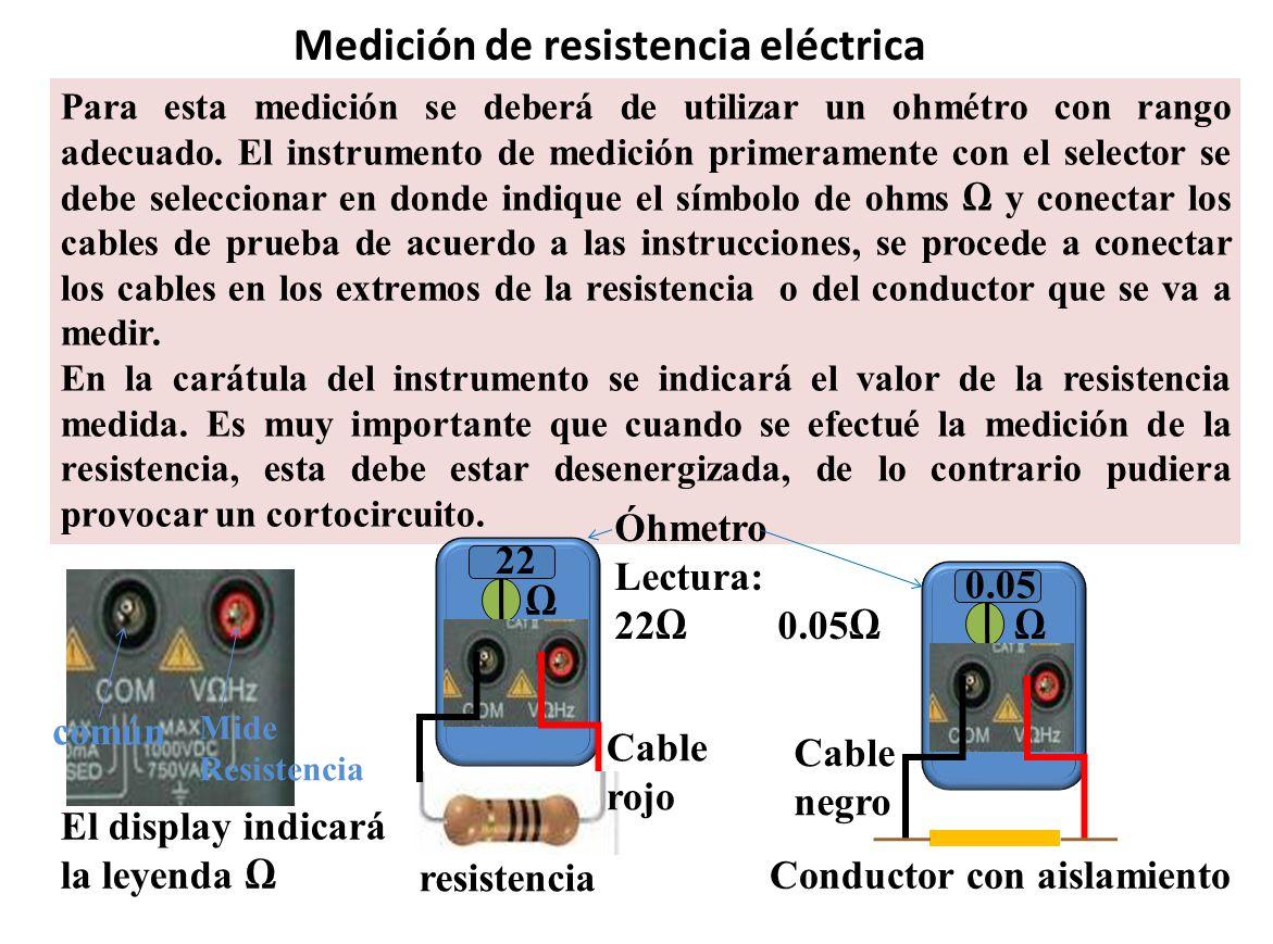 Medición de resistencia eléctrica
