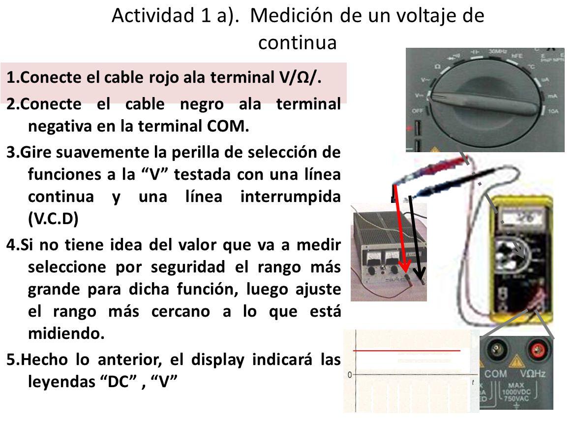 Actividad 1 a). Medición de un voltaje de continua