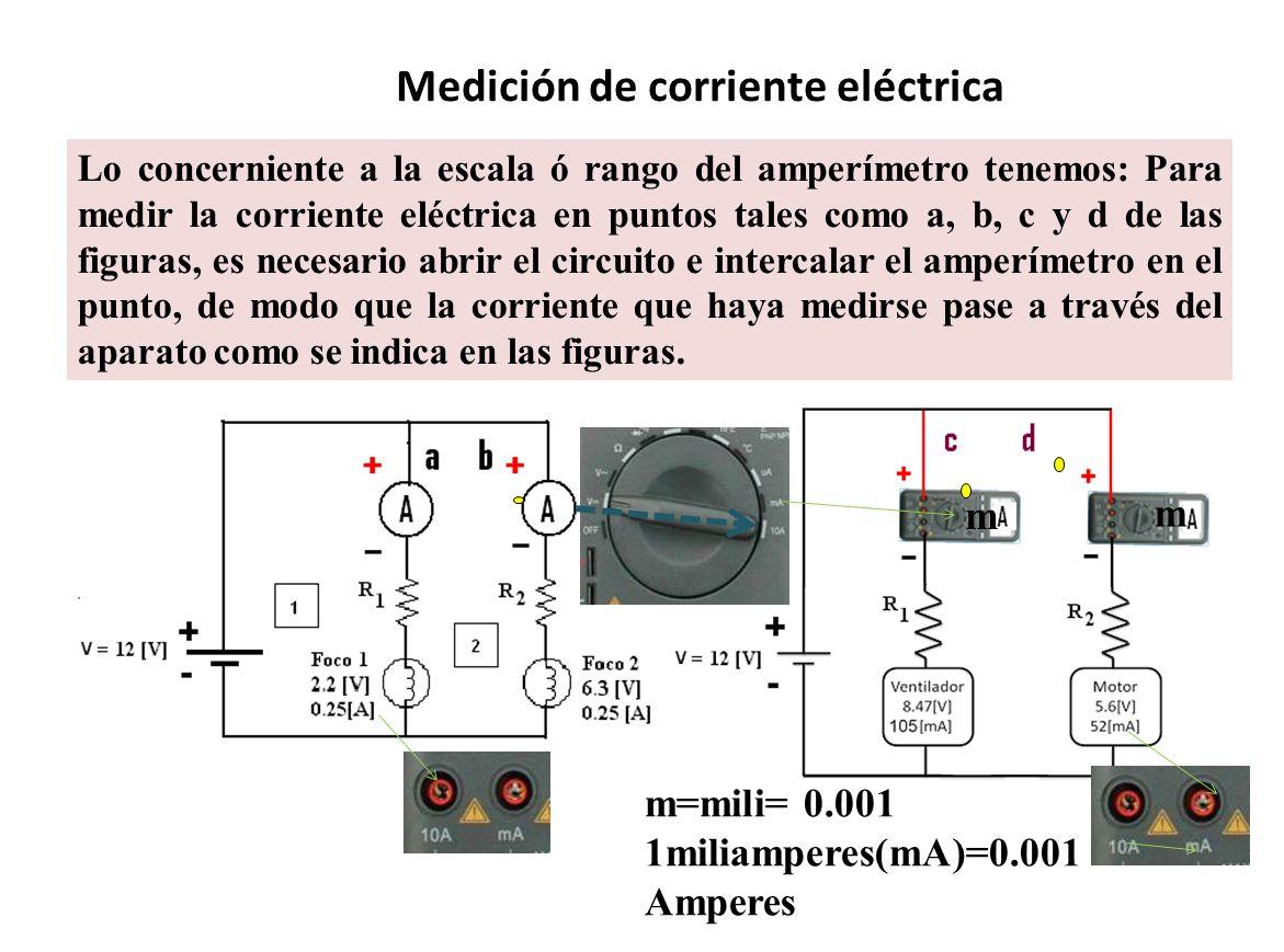 Medición de corriente eléctrica