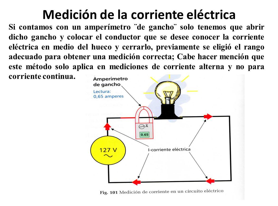 Medición de la corriente eléctrica