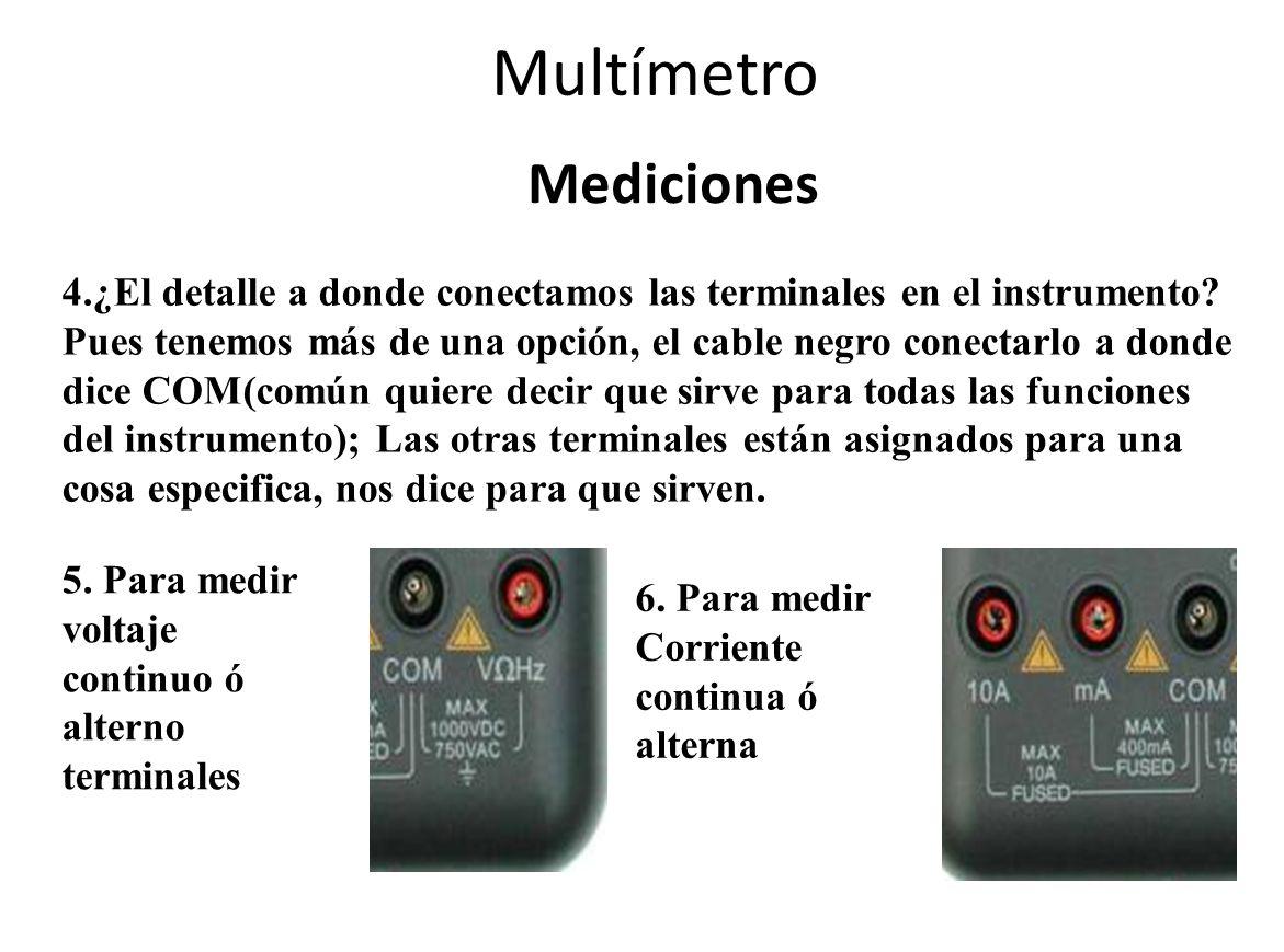 Multímetro Mediciones