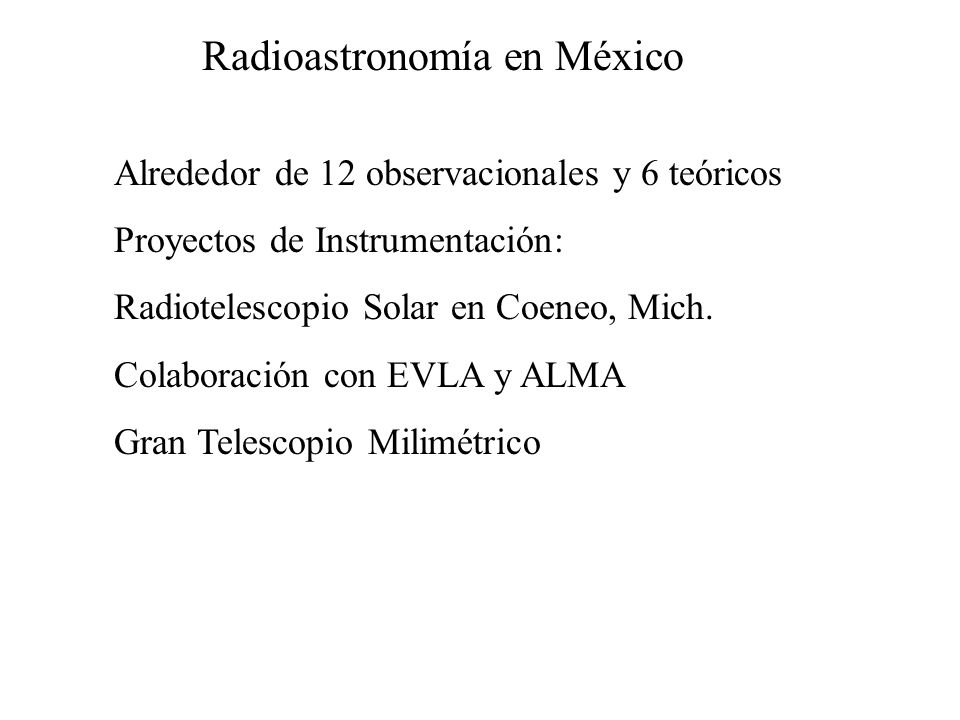 Radioastronomía en México