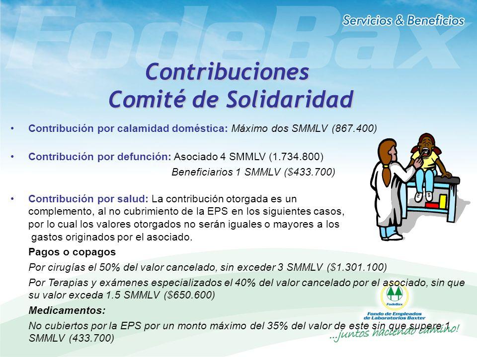 Contribuciones Comité de Solidaridad