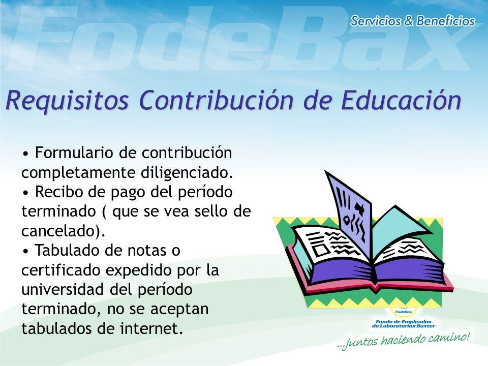 Requisitos Contribución de Educación