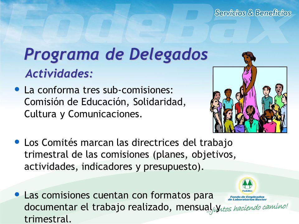 Programa de Delegados Actividades: