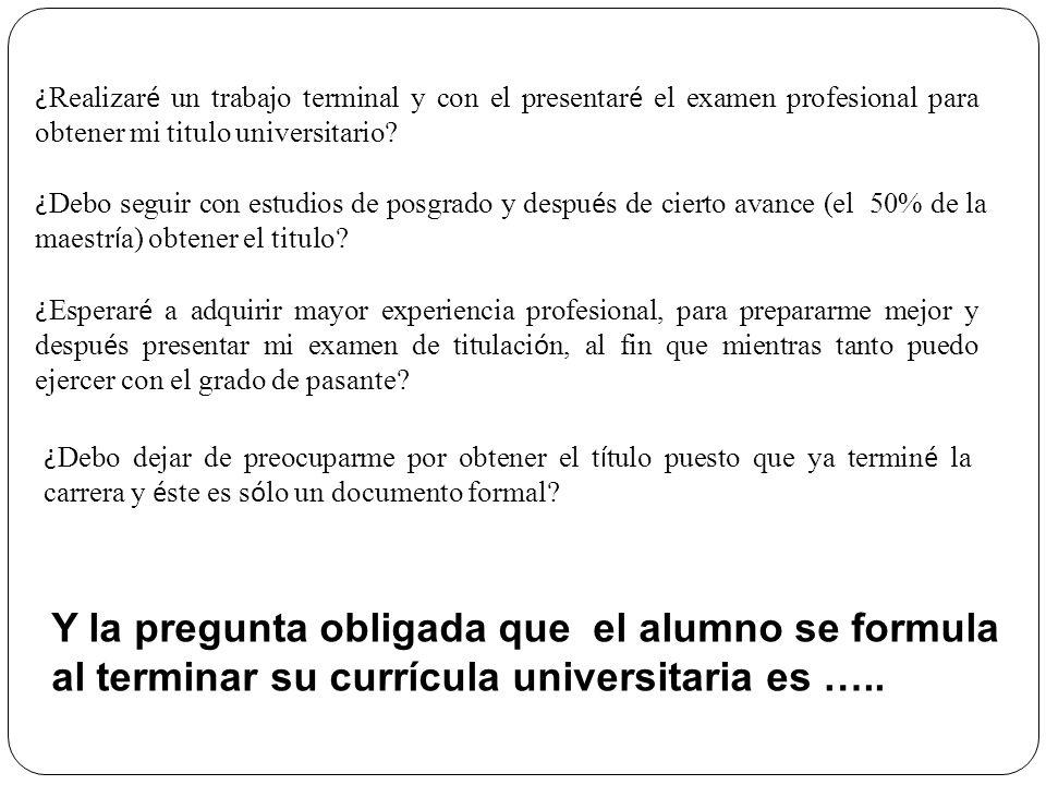 Y la pregunta obligada que el alumno se formula