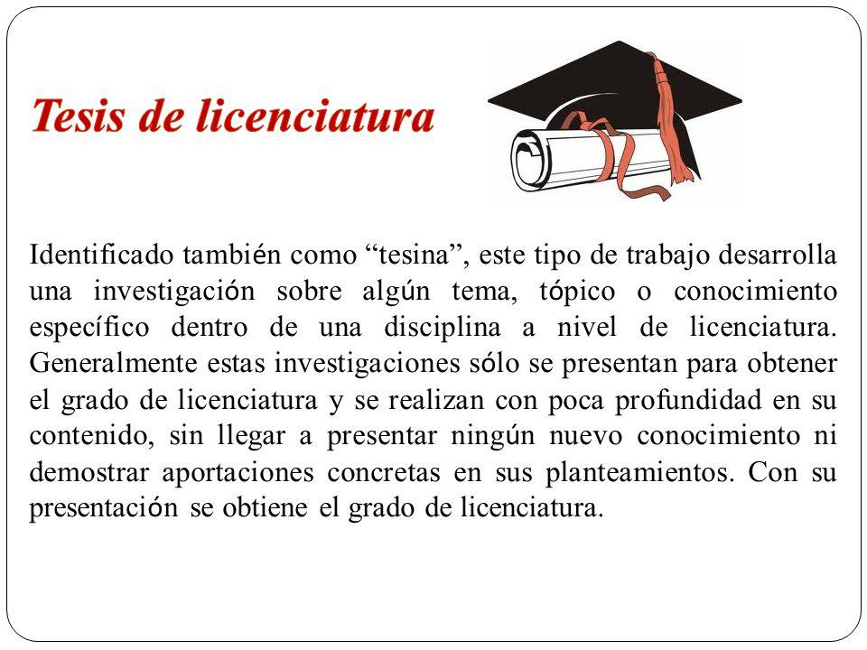 Tesis de licenciatura