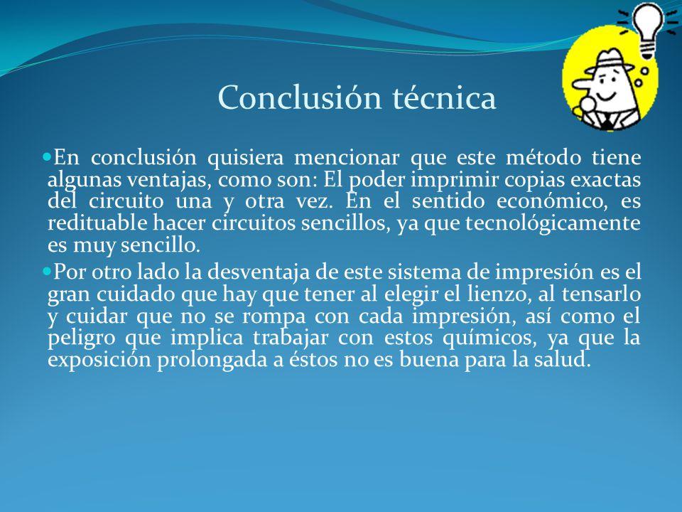 Conclusión técnica