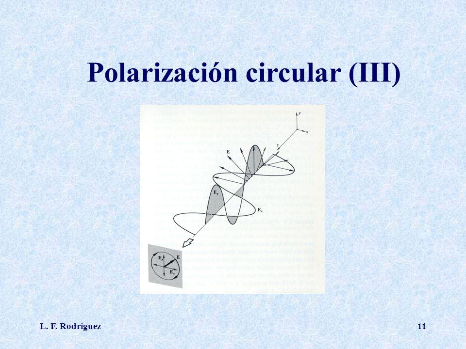 Polarización circular (III)