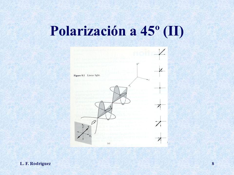 Polarización a 45º (II) L. F. Rodriguez
