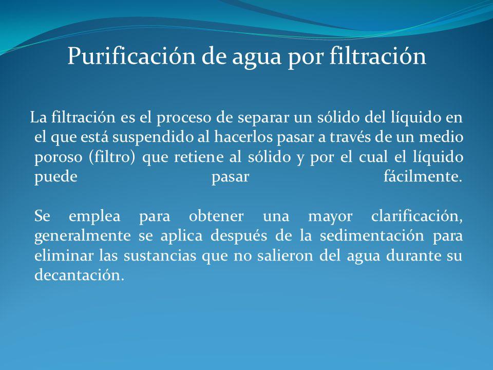 Purificación de agua por filtración