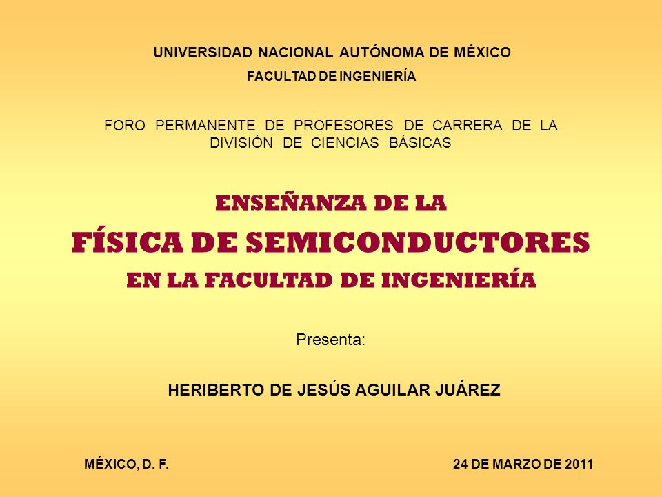 FÍSICA DE SEMICONDUCTORES