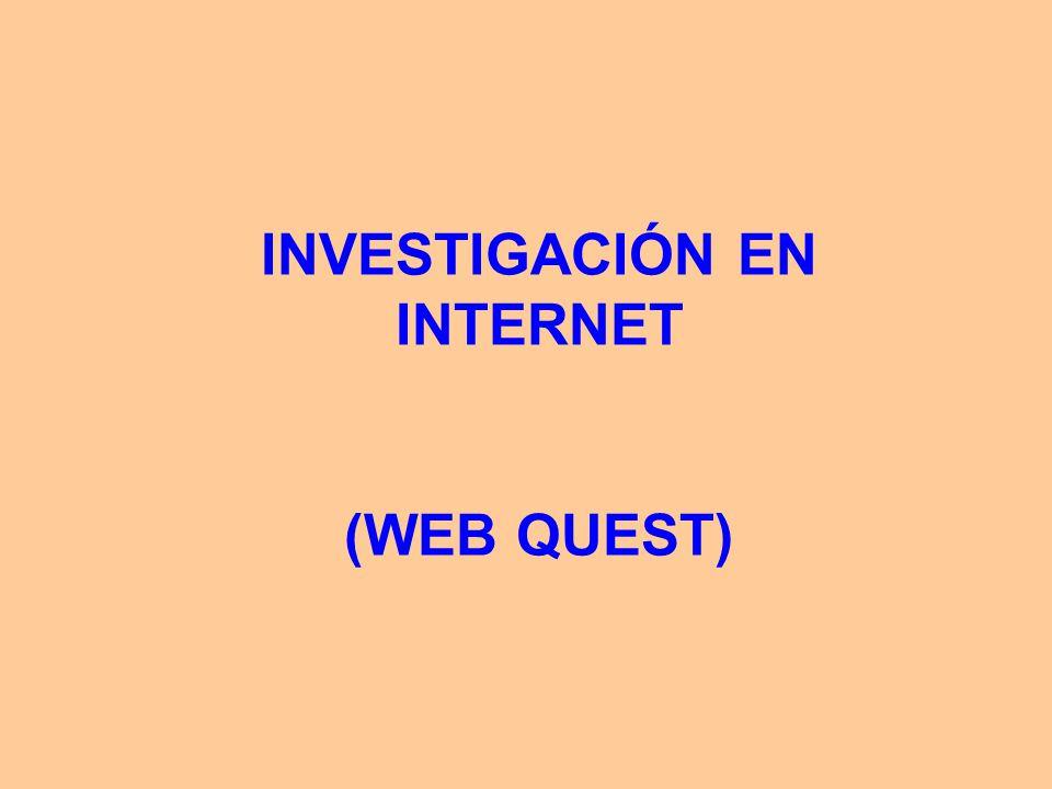 INVESTIGACIÓN EN INTERNET