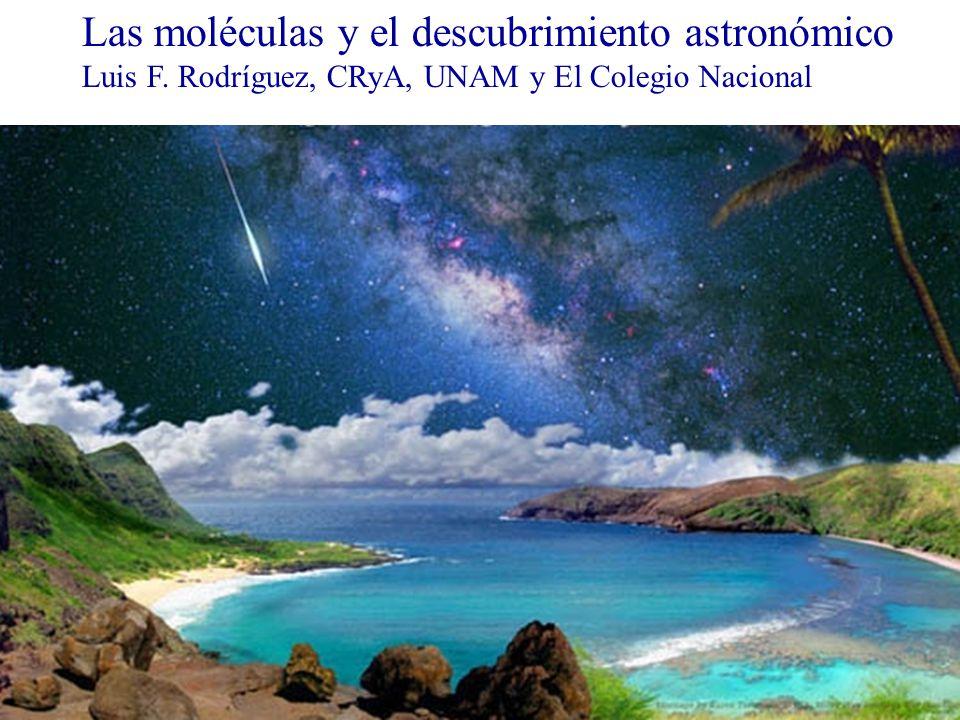 Las moléculas y el descubrimiento astronómico Luis F