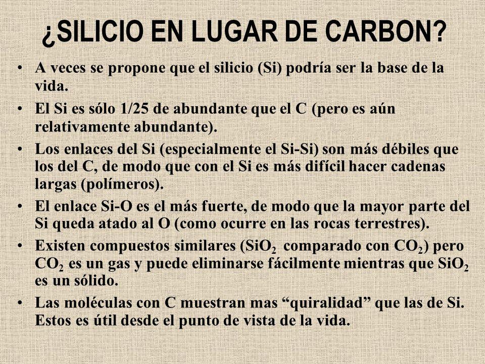 ¿SILICIO EN LUGAR DE CARBON