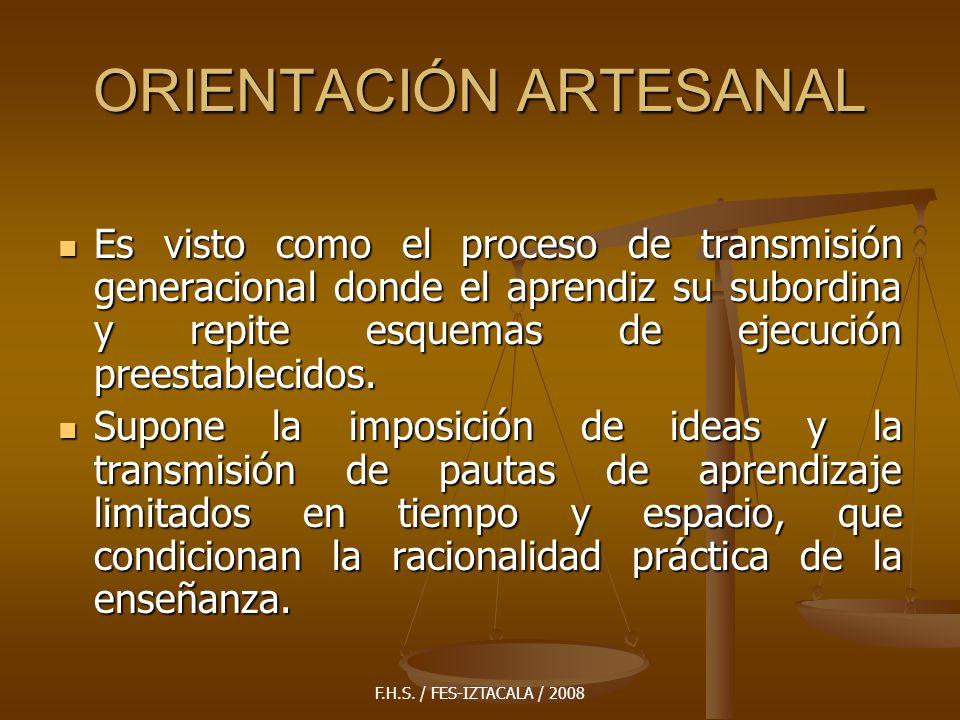 ORIENTACIÓN ARTESANAL