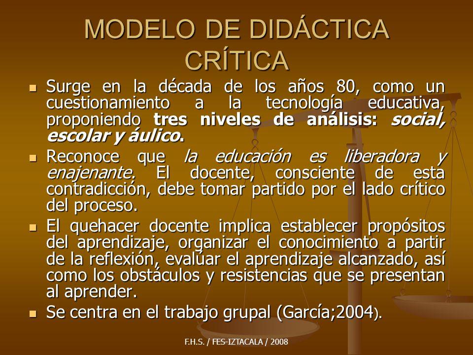 MODELO DE DIDÁCTICA CRÍTICA