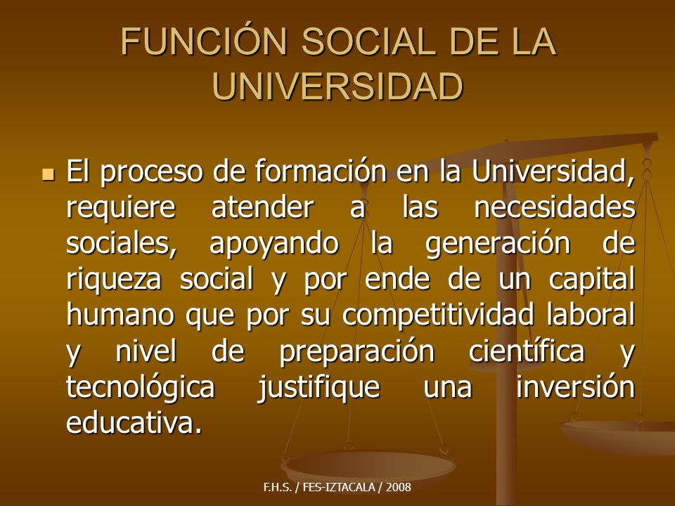 FUNCIÓN SOCIAL DE LA UNIVERSIDAD