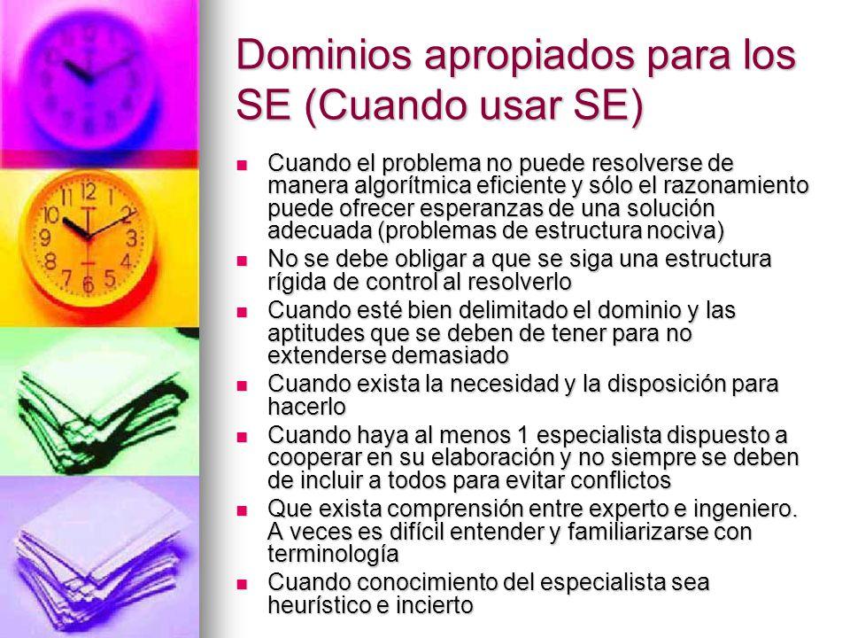 Dominios apropiados para los SE (Cuando usar SE)