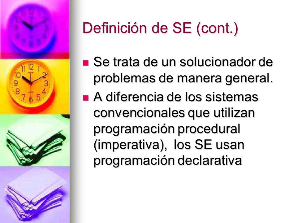 Definición de SE (cont.)