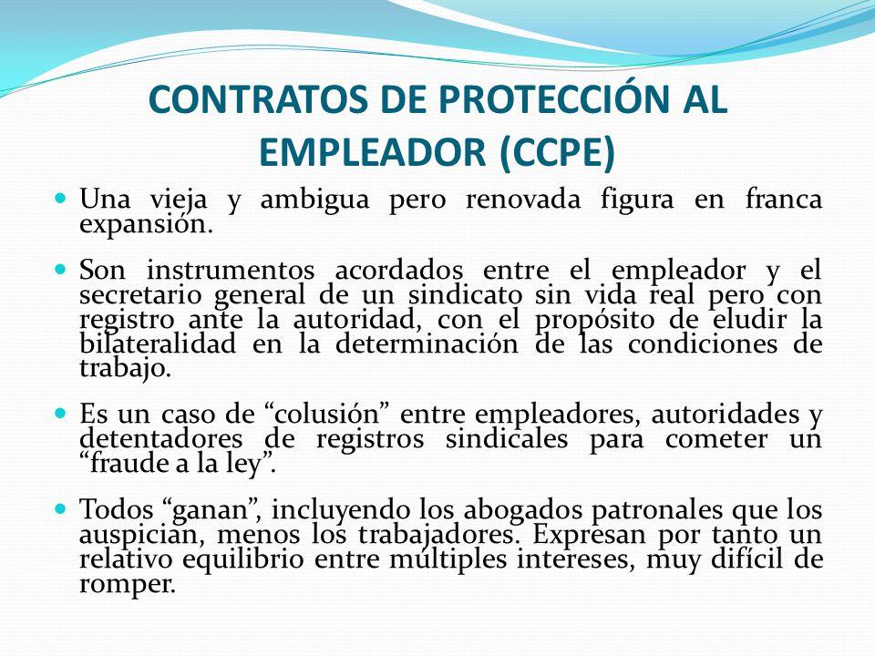 CONTRATOS DE PROTECCIÓN AL EMPLEADOR (CCPE)