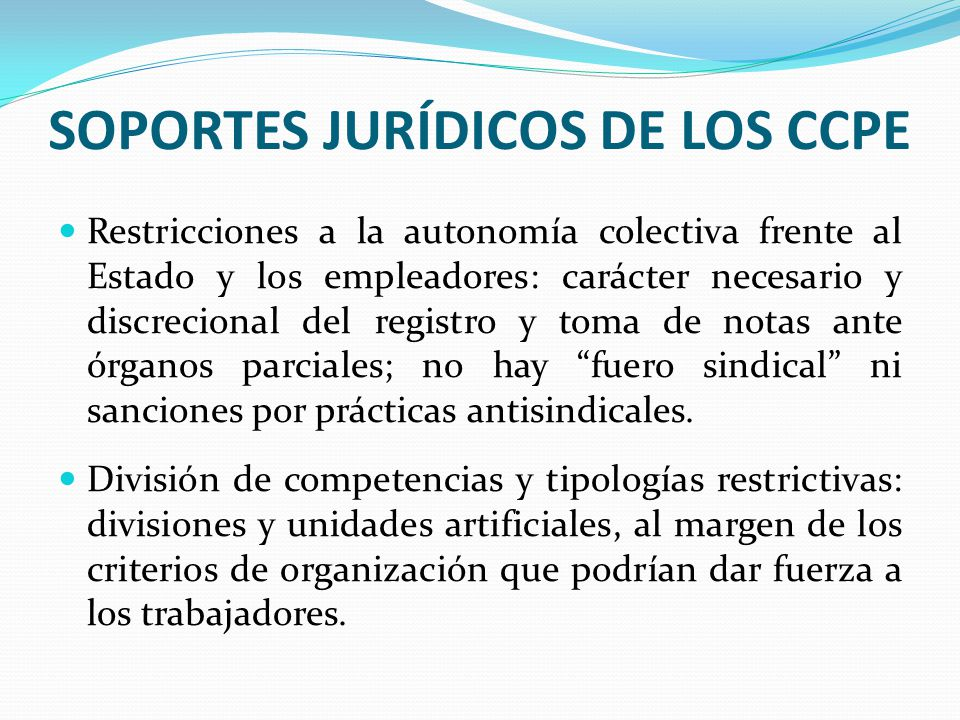 SOPORTES JURÍDICOS DE LOS CCPE